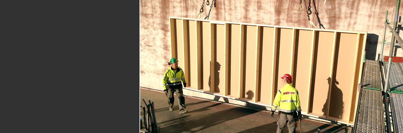 Mercurius Karlstad montage av väggar